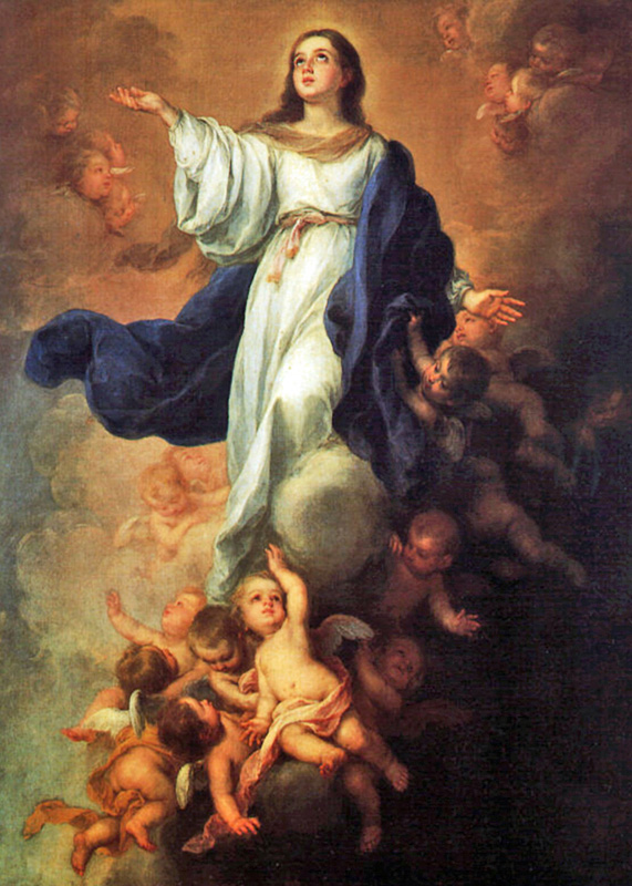 Bartolome Esteban Murillo of Seville, Spain - The Assumption of Mary, Hermitage, St. Petersburg, Russia, 1670.
