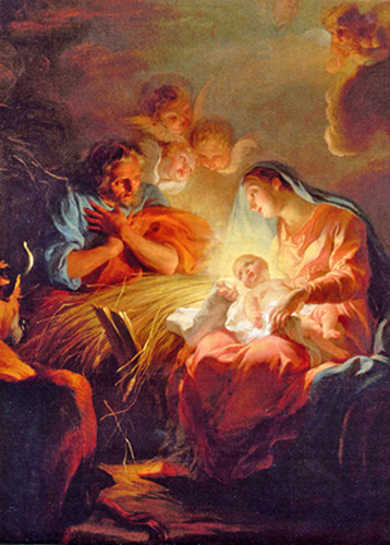 Noel Nicolas Coypel - The Nativity, Versailles, France, 1715.