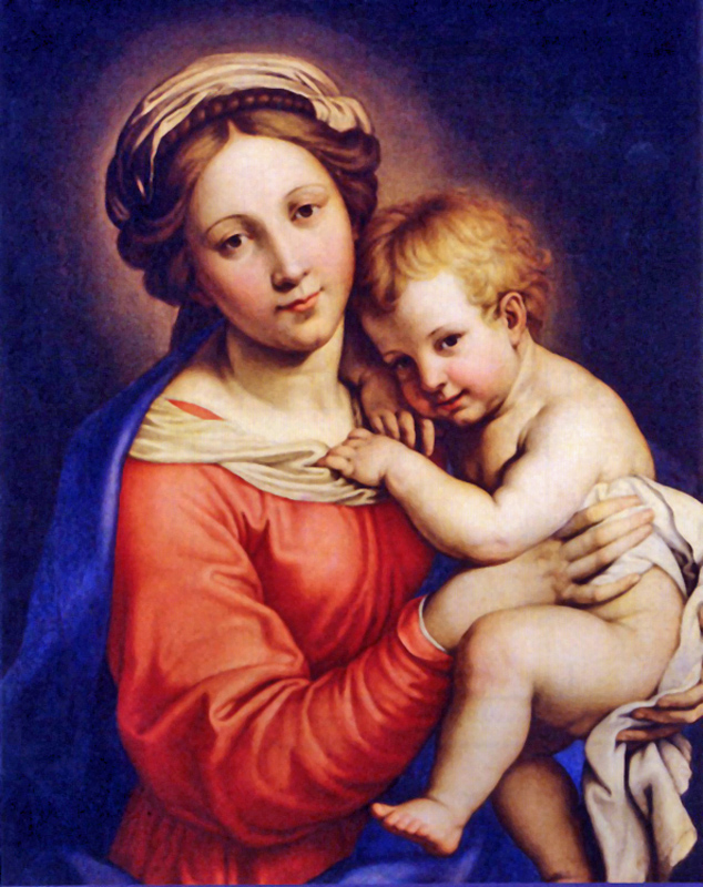 Giambettino Cignaroli of Verona, Italy - Virgin and Child, ~1750.