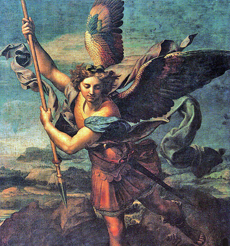 Raphael - Michael the Archangel, Musee du Louvre, Paris, 1518.