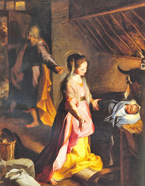 Federico Barocci of Urbino, Italy - The Nativity of Our Lord, Museo del Prado, Madrid, 1597.
