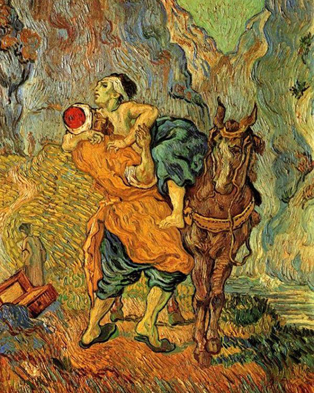 Vincent Van Gogh - The Good Samaritan (Luke 10:29-37), Amsterdam, 1890.