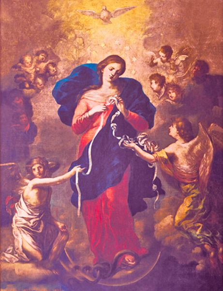 Johann Schmittdner - Mary Untier of Knots, Church of St. Peter, Augsburg, Germany, 1700.