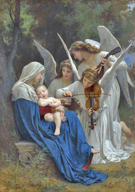 William Bouguereau - La Vierge aux Anges (The Virgin with Angels), La Rochelle, France, 1882.