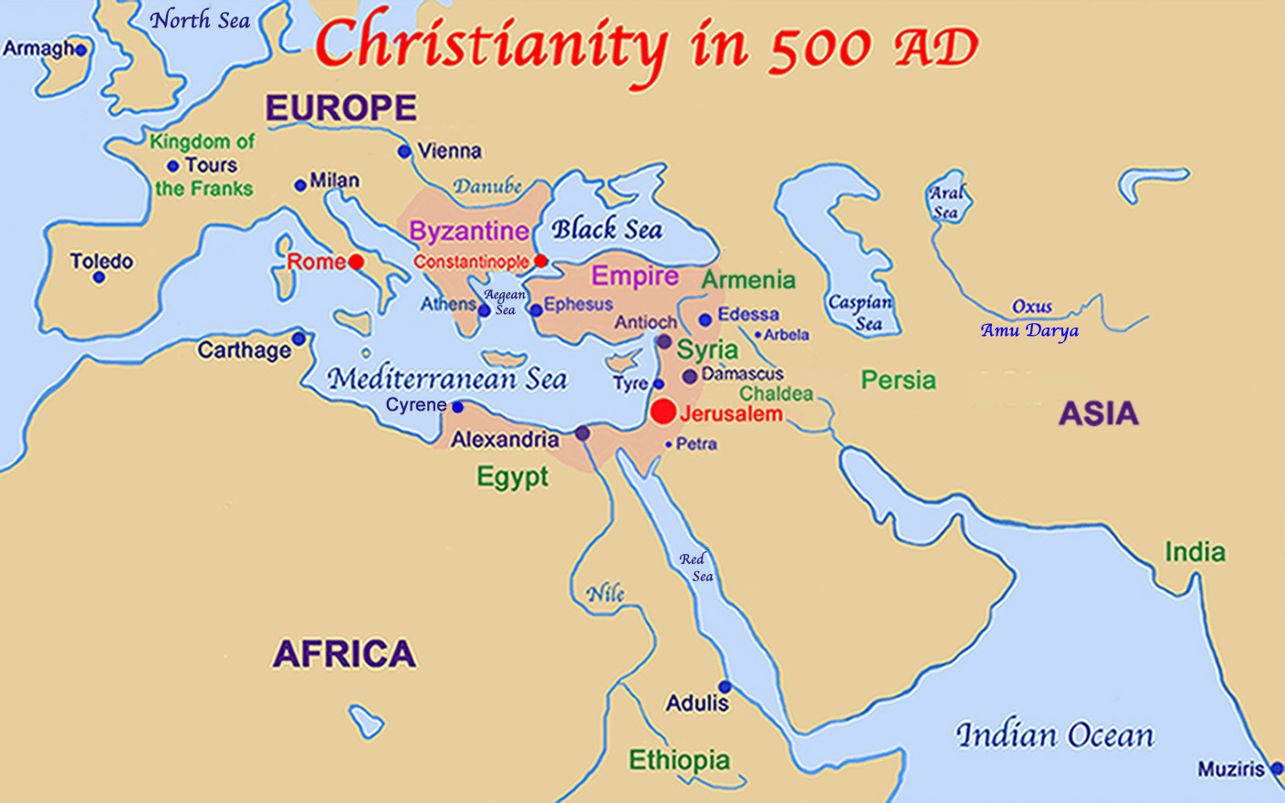 Spread of Christianity Among People Groups