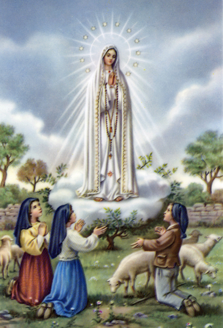 Our Lady of Fatima, with Lucia, Francisco, and Jacinta, Portugal, 1917.