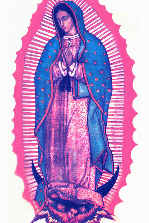 The Miraculous Image of Our Lady of Guadalupe on the Tilma of St. Juan Diego.