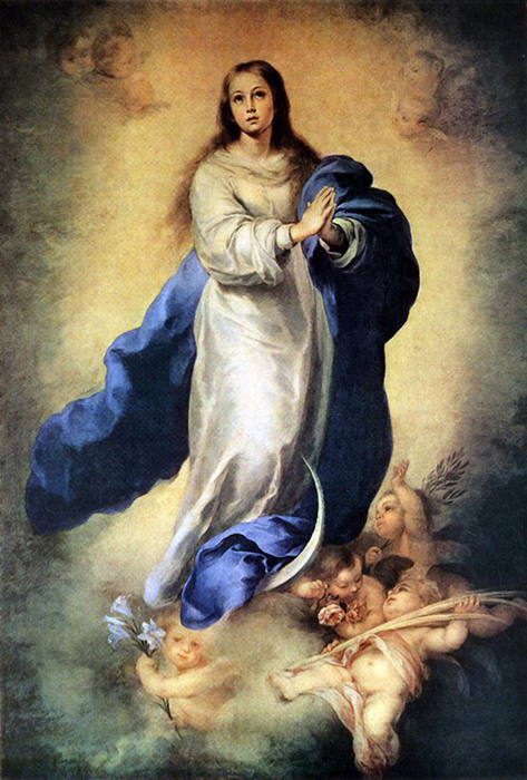Bartolomé Esteban Murillo of Seville, Spain - The Immaculate Conception, Museo del Prado, Madrid, 1670.