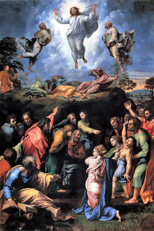 Raphael Sanzio - The Transfiguration of Jesus and the Cure of an Epileptic, Pinacoteca Vaticana, Rome, 1519.