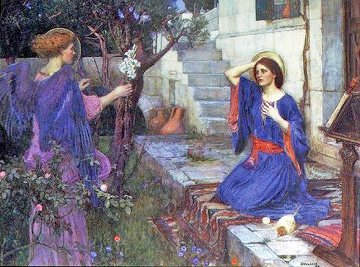 John William Waterhouse - The Annunciation, London, England, 1914.